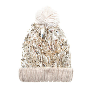 Rockahula Super Sequin Bobble Hat- Gold