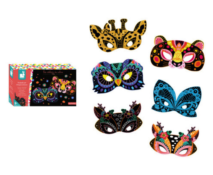 Janod Scratch Art Animal Masks