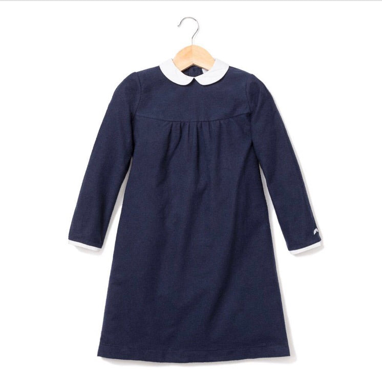 Petite Plume Navy Flannel Vivienne Nightgown