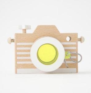 Kiko & gg Wooden Kaleidescope Play Camera-Yellow
