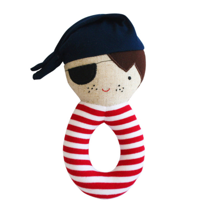 Alimrose Linen Pirate Grab Rattle