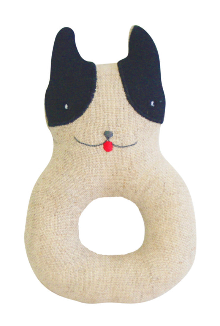 Alimrose Frenchie Puppy Grab Rattle