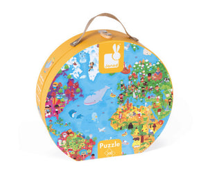 Janod Giant Puzzle in Hat Box-World Map 300pcs