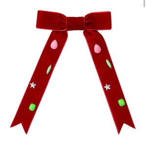 Meri Meri Red Velvet Bow Barrette
