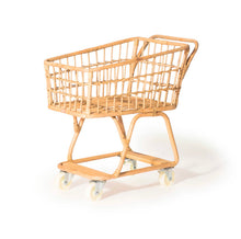 Load image into Gallery viewer, Poppie Toys Rattan Shopping Cart