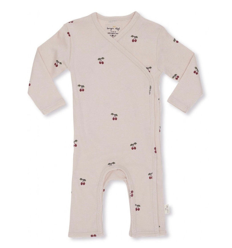 Konges Slojd Newborn Organic Onesie- Cherry Blush