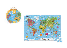 Load image into Gallery viewer, Janod Giant Puzzle in Hat Box-World Map 300pcs