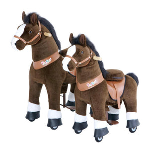 Pony Cycle Horse-Chocolate Brown w/ White Hoof