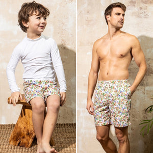 Mott 50 Mini Major Board Shorts-Poppy Spritz