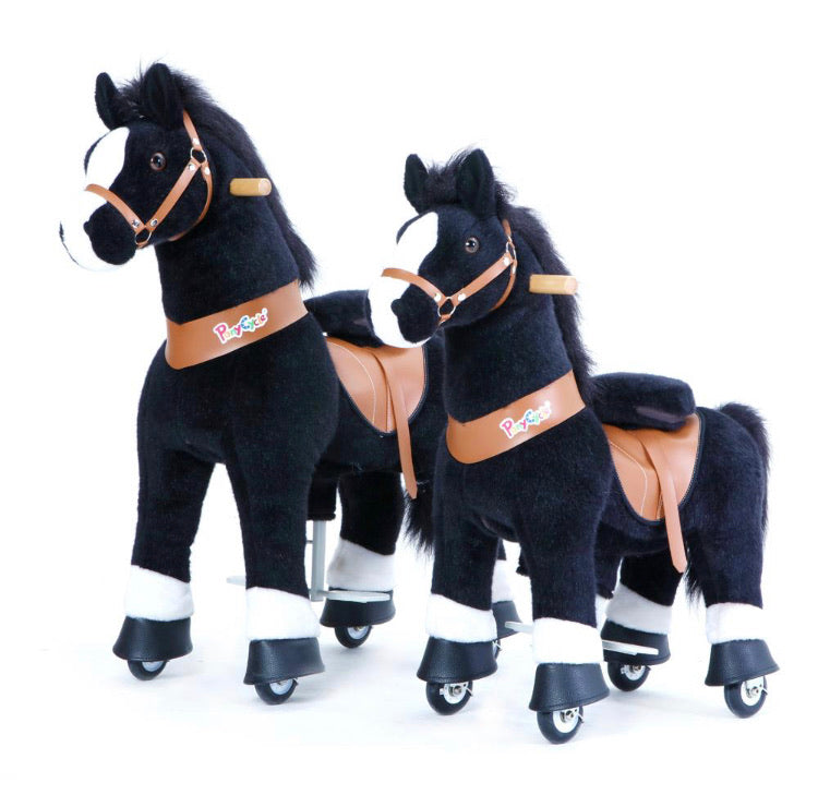 Pony Cycle Horse- Black w/ White Hoof