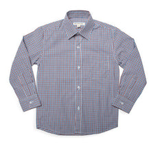 Load image into Gallery viewer, Appaman Burgundy/Blue Gingham Standard Shirt