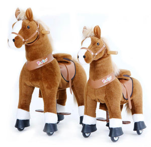 Pony Cycle Horse- Light Brown w/ White Hoof