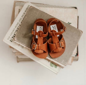 Zimmerman Stevie Sandal w/ Removable Fringe Warm Brown