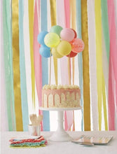 Load image into Gallery viewer, Meri Meri Rainbow Balloon Cake Topper Kit