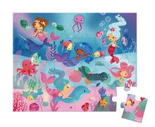 Load image into Gallery viewer, Janod Mermaid Puzzle 24pc