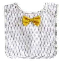 Load image into Gallery viewer, Alimrose Bow Tie Bib-Navy Spots