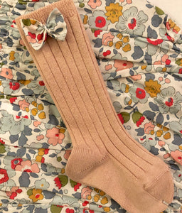 Livvy Rose/Betsy Grey Bow Knee Socks