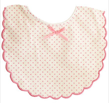 Load image into Gallery viewer, Alimrose Scallop Edge Bib-Pink Spots