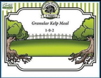 Granular Kelp Meal 1-0-2 is derived from seaweed.