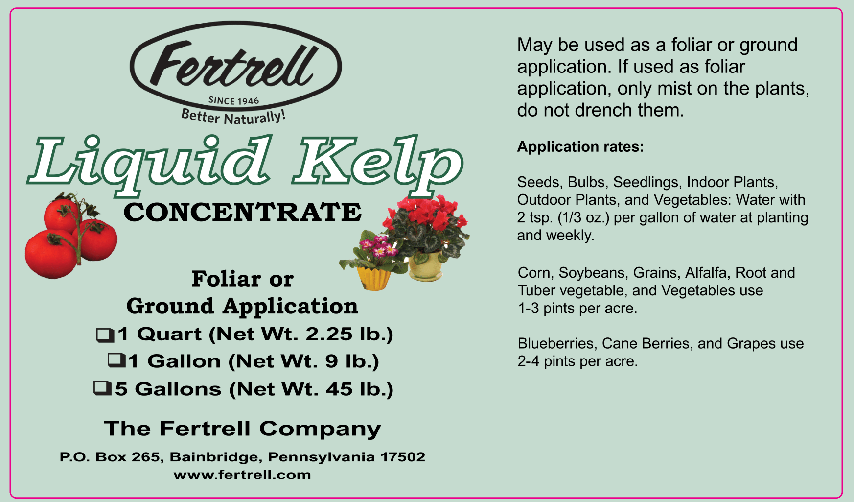 Fertrell Liquid Kelp Concentrate