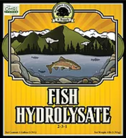 Fish Hydrolysate  2-3-1 organic liquid fertilizer label