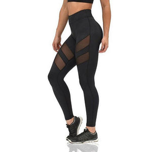 Fitness Mesh Yoga  Elastic Leggings Workout Pants (NEW)