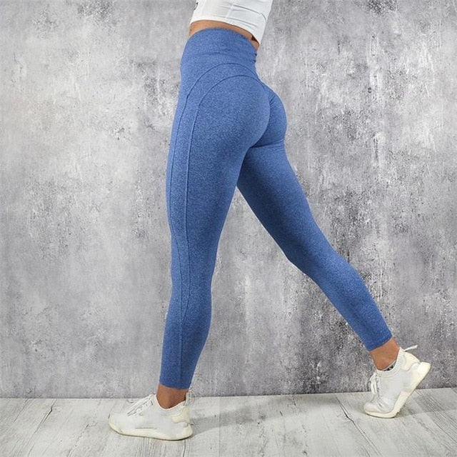 (Heart-Butt) Sexy Push Up Leggings Breathable Patchwork
