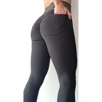 High-Waist Push-Up Leggings with Pockets