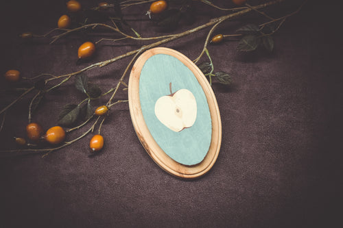 Apple Painting on Wood