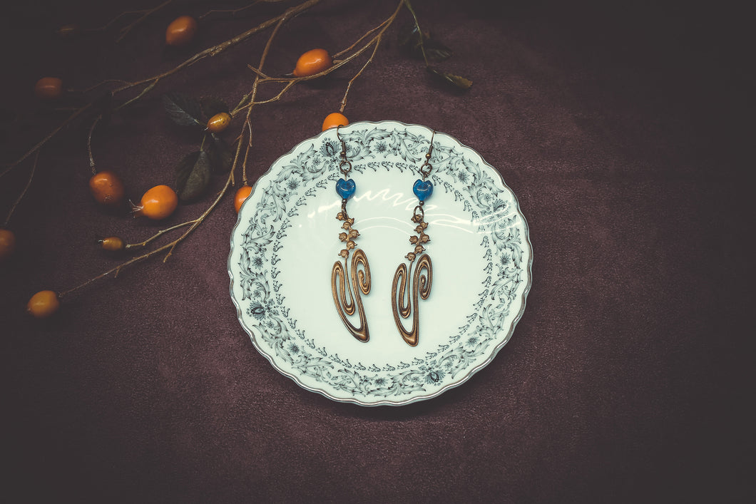 Art Nouveau Ornament Earrings