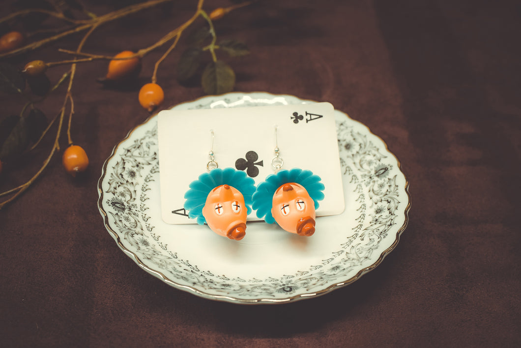 Small Clown Earrings