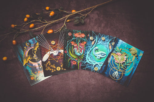 Herbal Zodiac Postcards