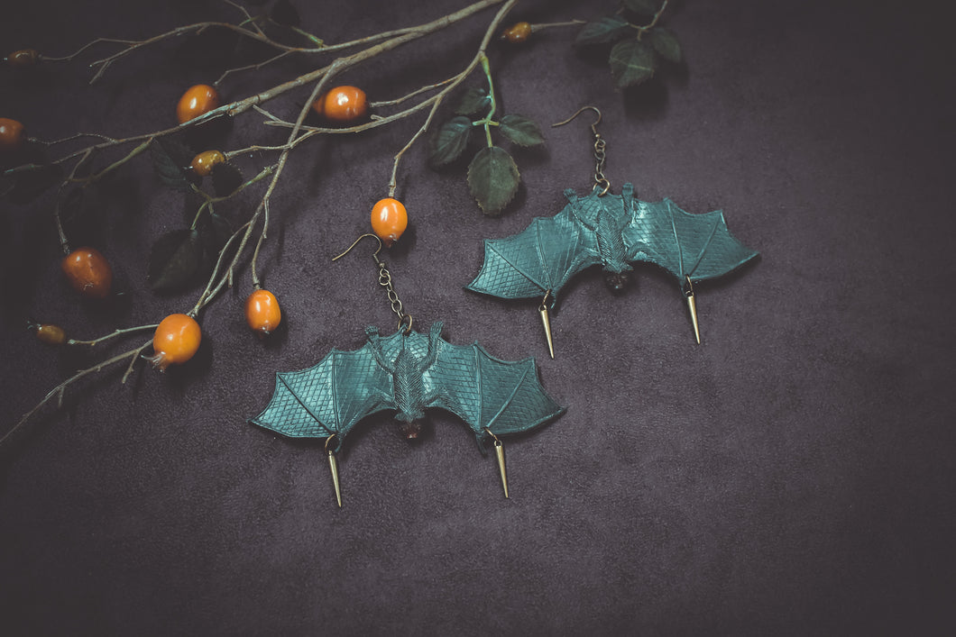 Bats and Spikes Earrings