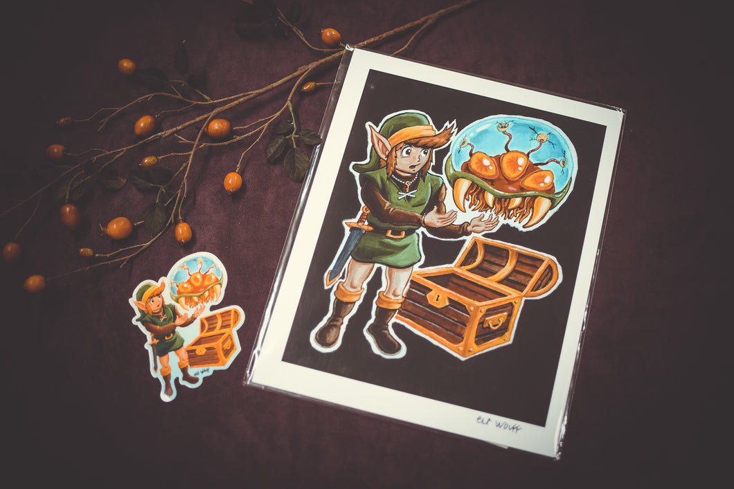 Link Finds a Metroid