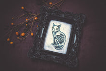 Load image into Gallery viewer, Classic Halloween Kitties - Original Watercolor