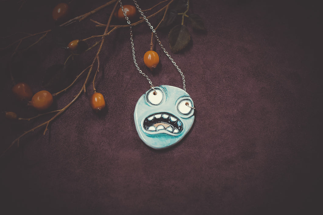 Ceramic Face Necklace