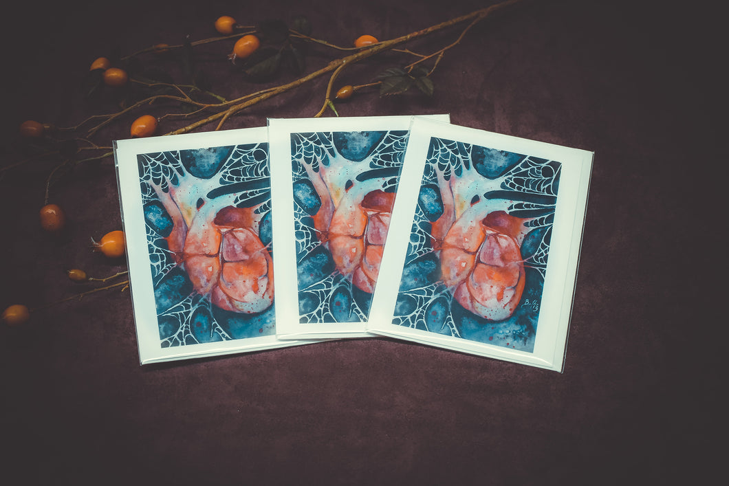 Corazon Torcido Notecards