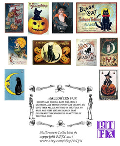 Halloween Card Set - Collection #1