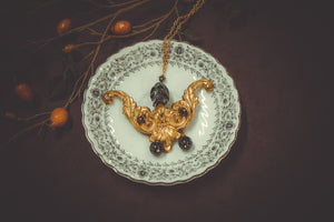 Gold Ornament & Skull Necklace