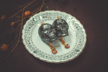 Load image into Gallery viewer, Skulls with Cloisonne Earrings