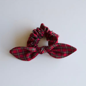 Red + Yellow Plaid Scrunchie-B2G1HALFOFF