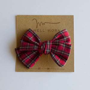 Red + Yellow Plaid Bow-B2G1HALFOFF
