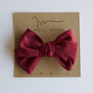 Cranberry Cotton Bow-B2G1HALFOFF