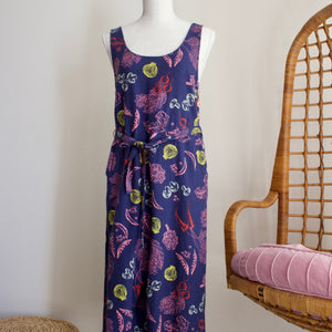 ModCloth Elated Over Cropped Vegetables Jumpsuit - M