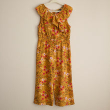 Load image into Gallery viewer, Mustard Floral Jumpsuit - 4T