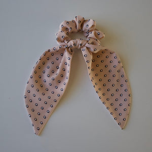 Pink Dots Long Tail Scrunchie-B2G1HALFOFF