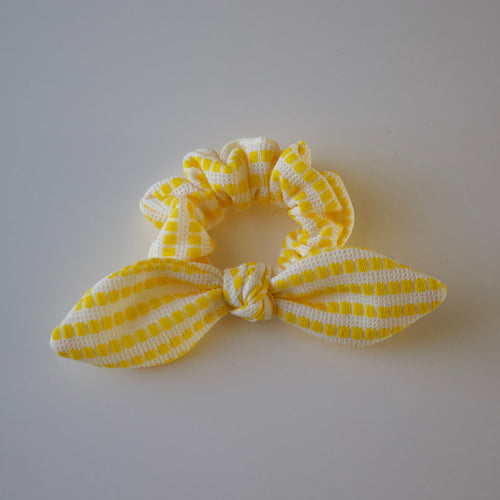 Lemon Stripe Scrunchie-B2G1HALFOFF
