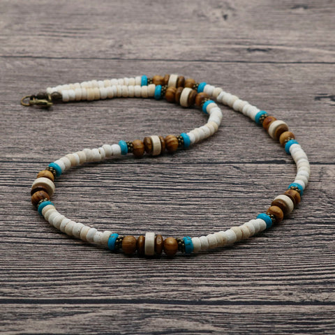 Tribal Beaded Choker Necklace