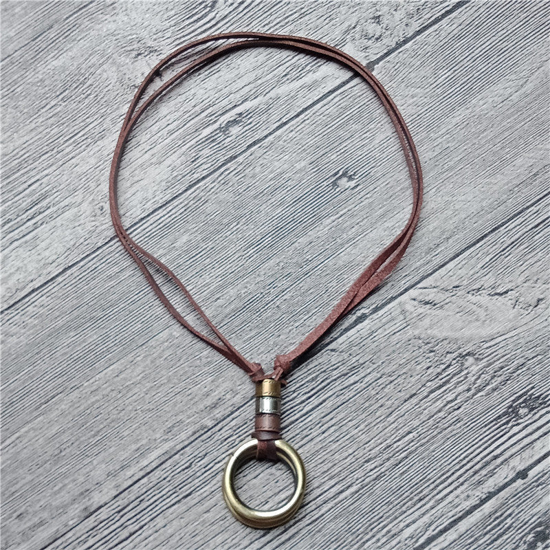 Hooped Vintage Long Pendant Necklace