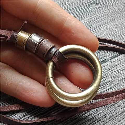 Image of Hooped Vintage Long Pendant Necklace